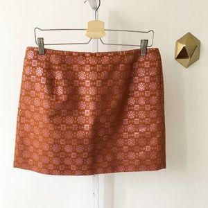 NWT J.Crew Collection Metallic Mini Skirt Geo 10